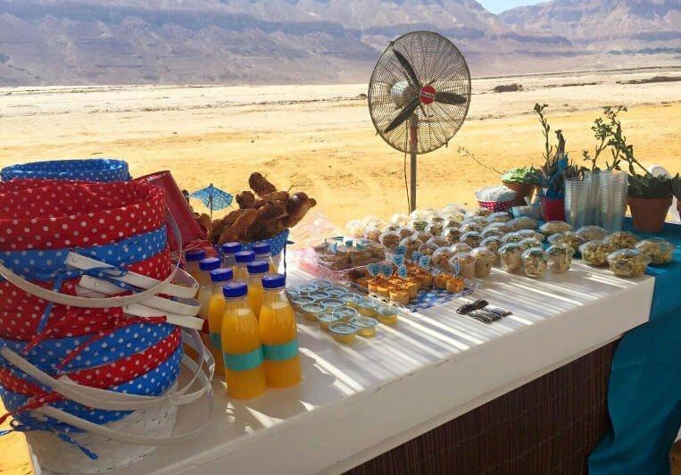 אירוע בת מצווה פיקניק בים המלח