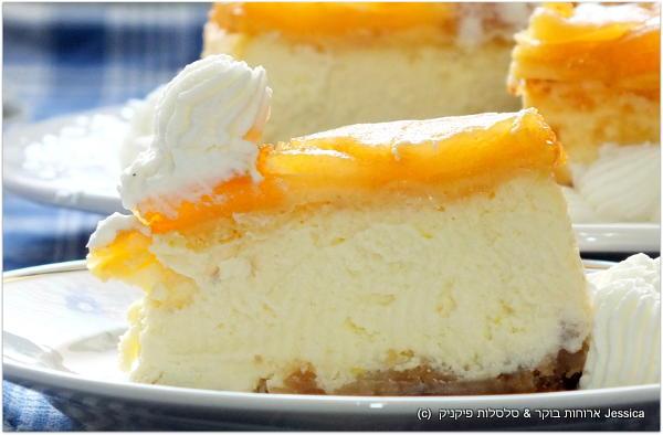 עוגת גבינת ניו יורק עם טארט טטאן